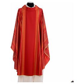 Chasuble liturgique 69% laine vierge double retors Tasmania,22% viscose, 9% polyester s4