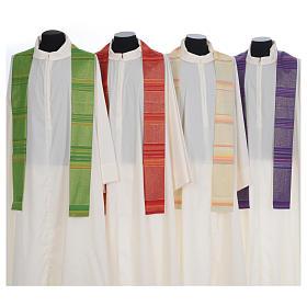 Chasuble liturgique 69% laine vierge double retors Tasmania,22% viscose, 9% polyester s7