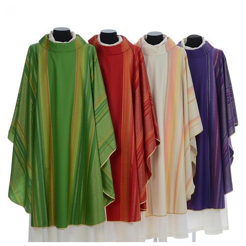 Chasuble liturgique 69% laine vierge double retors Tasmania,22% viscose, 9% polyester 1