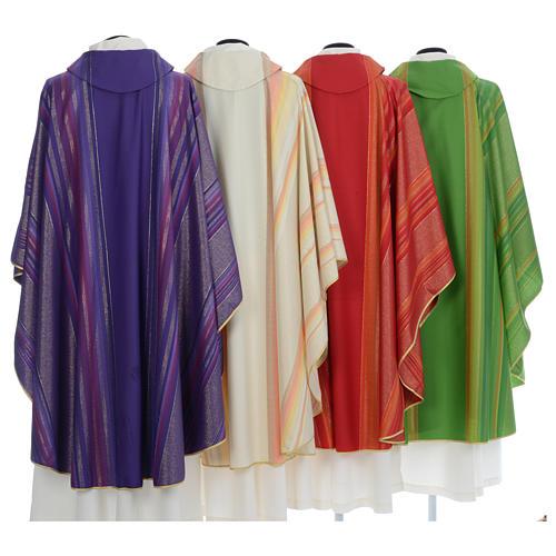 Chasuble liturgique 69% laine vierge double retors Tasmania,22% viscose, 9% polyester 2