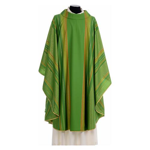 Chasuble liturgique 69% laine vierge double retors Tasmania,22% viscose, 9% polyester 3