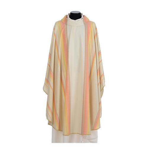 Chasuble liturgique 69% laine vierge double retors Tasmania,22% viscose, 9% polyester 5