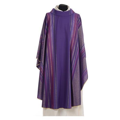 Chasuble liturgique 69% laine vierge double retors Tasmania,22% viscose, 9% polyester 6