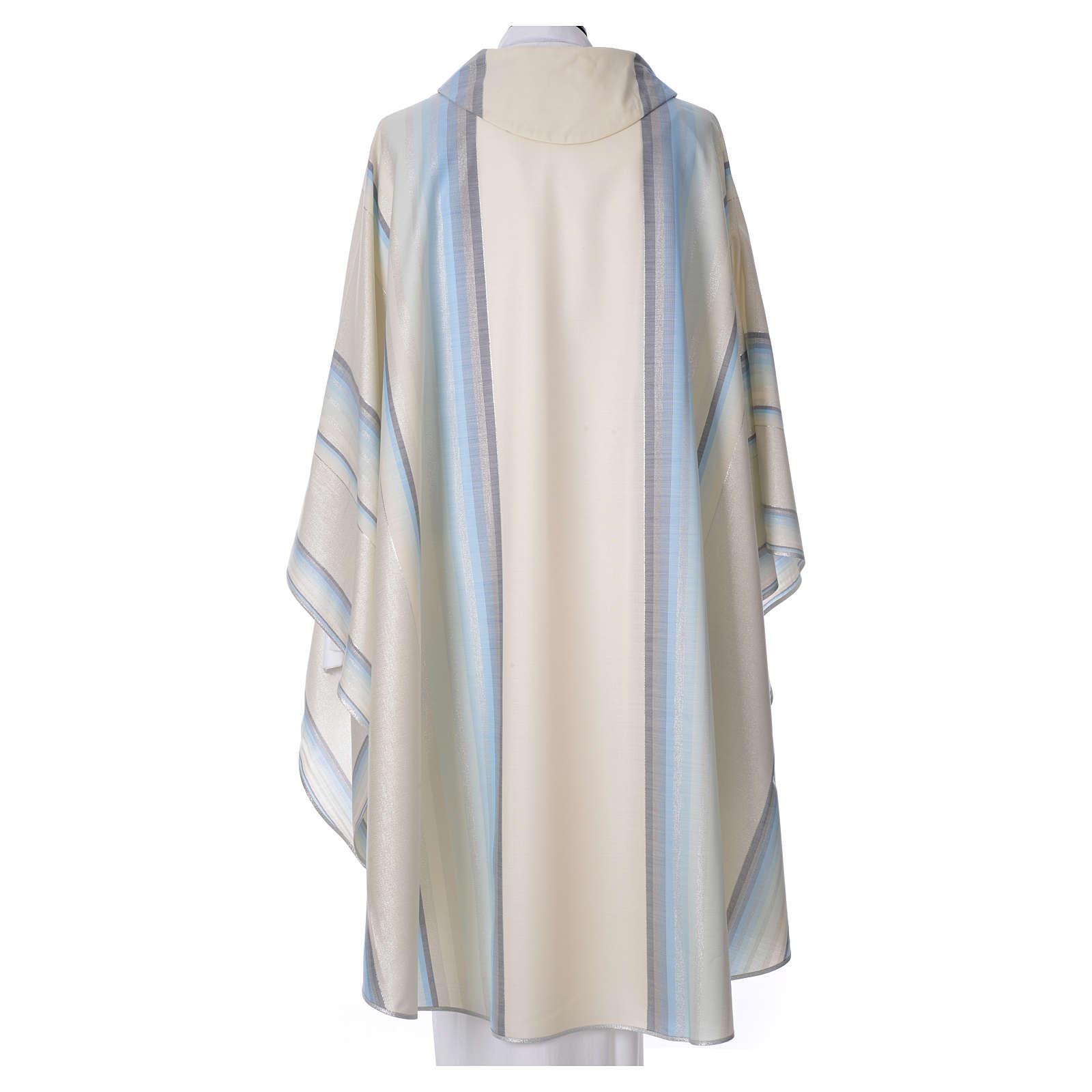Casula azzurra 100% pura lana verg. con doppio ritorto Tasmania 4