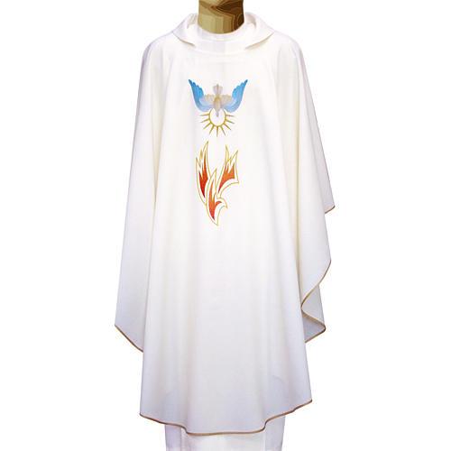 Casula 100% poliestere fiamme e Spirito Santo 1