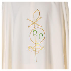 Chasuble in polyester with Chi-Rho and Alpha Omega symbol s2