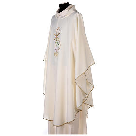 Chasuble in polyester with Chi-Rho and Alpha Omega symbol s3
