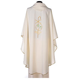 Chasuble in polyester with Chi-Rho and Alpha Omega symbol s4