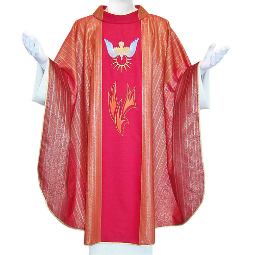 Chasuble Holy Spirit in Tasmanian wool with double twisted yarn 1
