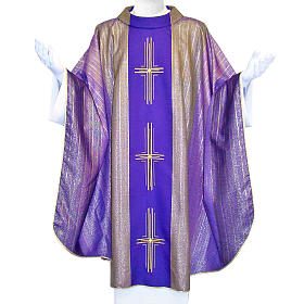 Chasuble 3 crosses in Tasmanian wool with double twisted yarn s2