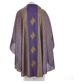 Chasuble 4 crosses in Tasmanian wool with double twisted yarn s4