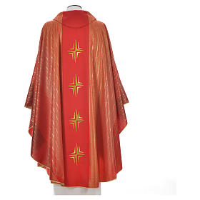 Chasuble 4 crosses in Tasmanian wool with double twisted yarn s8
