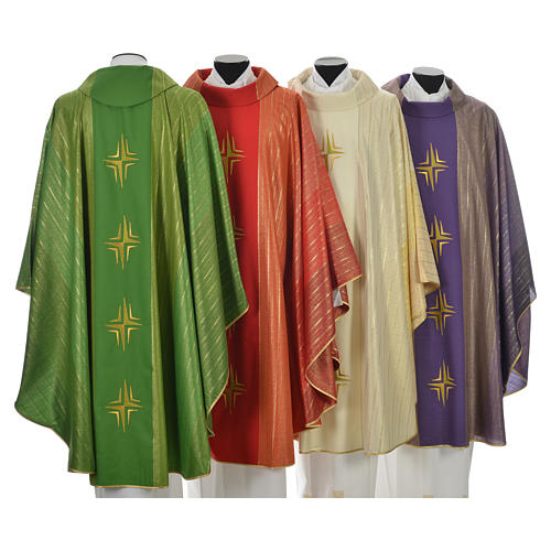Chasuble 4 crosses in Tasmanian wool with double twisted yarn 2