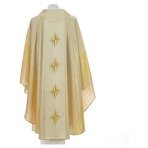 Chasuble 4 crosses in Tasmanian wool with double twisted yarn 6
