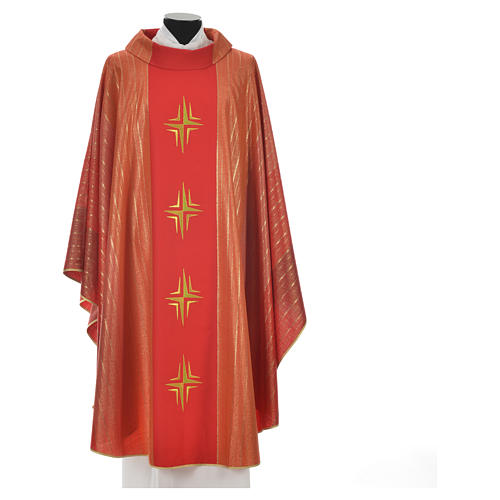 Chasuble 4 crosses in Tasmanian wool with double twisted yarn 7