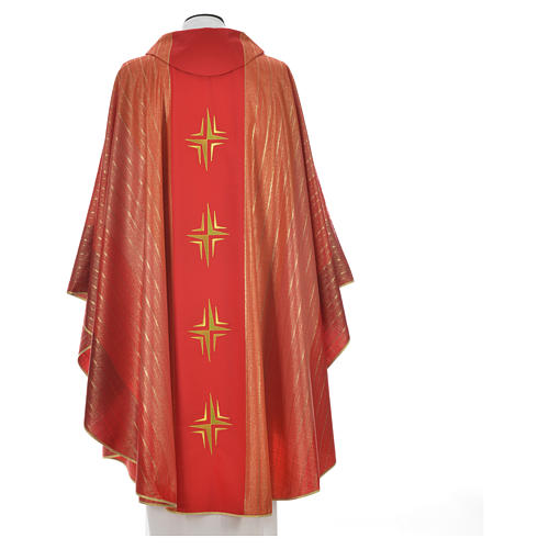 Chasuble 4 crosses in Tasmanian wool with double twisted yarn 8
