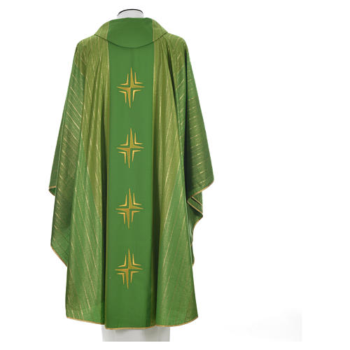 Chasuble 4 crosses in Tasmanian wool with double twisted yarn 10