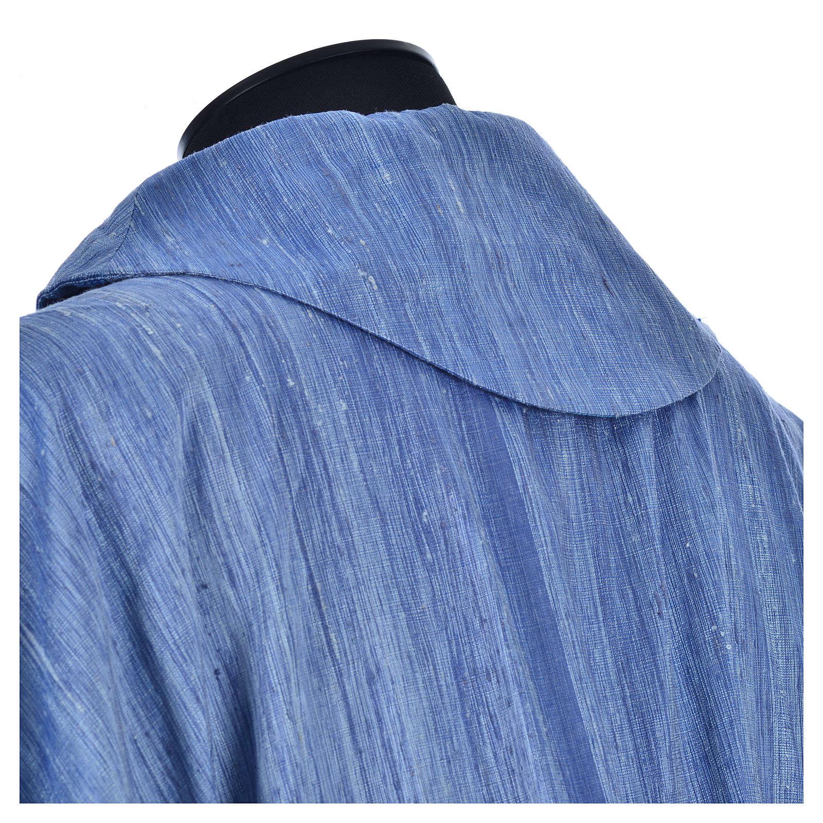 Casula 100% pura seta shantung azzurra 4