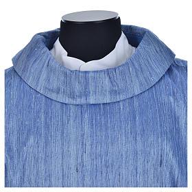 Casula 100% pura seta shantung azzurra s6
