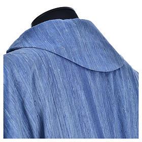 Casula 100% pura seta shantung azzurra s7
