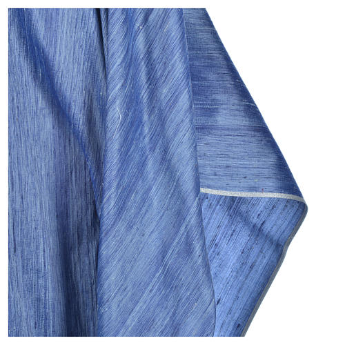 Casula 100% pura seta shantung azzurra 5