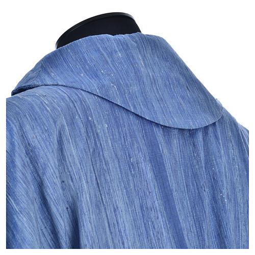 Casula 100% pura seta shantung azzurra 7