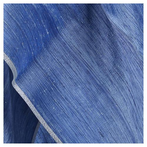 Casula 100% pura seta shantung azzurra 8