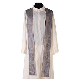 Blue Priest Chasuble in pure Shantung silk s6