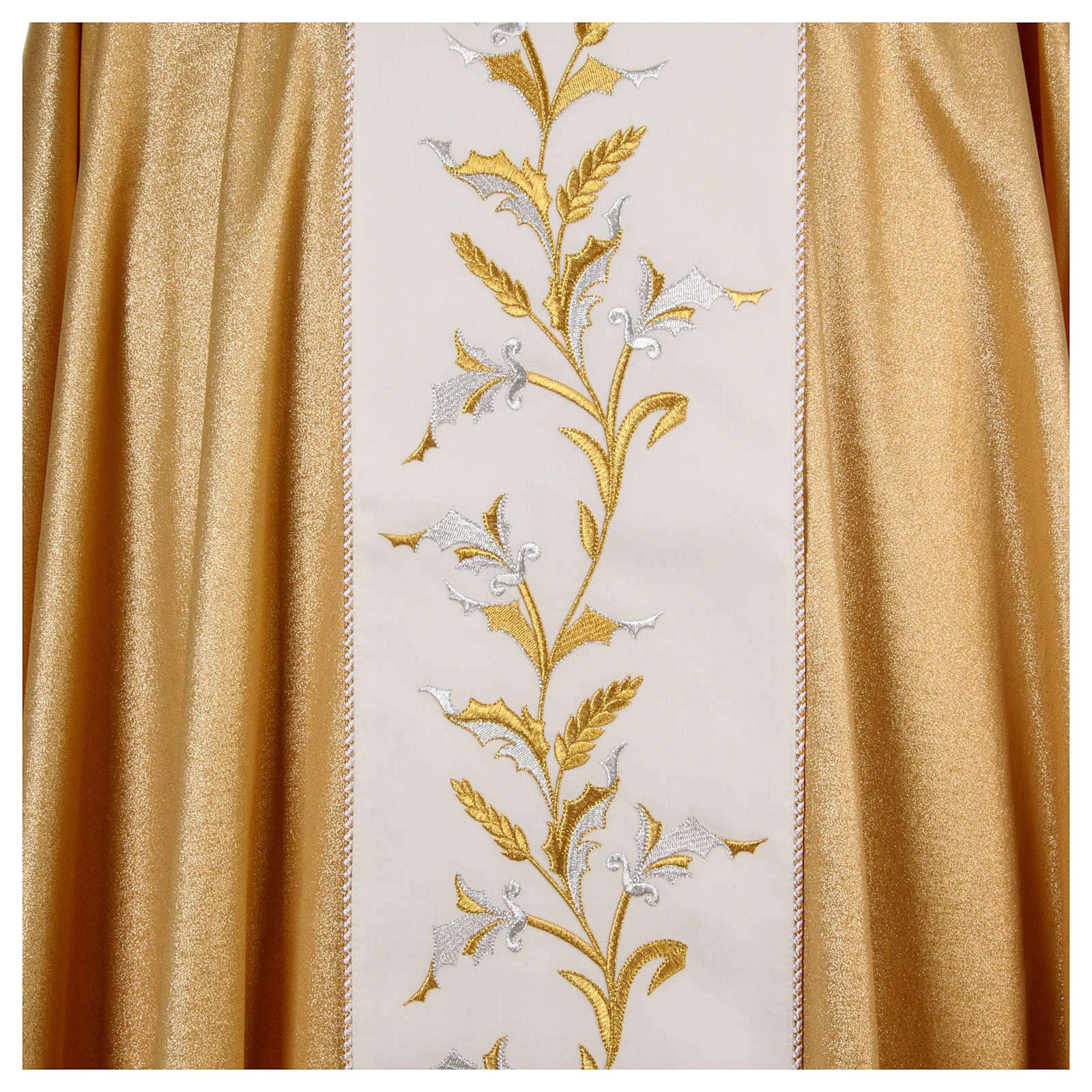 Casula oro 95% pura lana vergine 5% lurex spighe 4