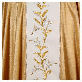 Casula oro 95% pura lana vergine 5% lurex spighe s4