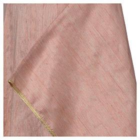 Casula 100% pura seta shantung rosa s4