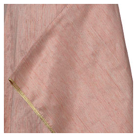 Pink Chasuble in pure Shantung silk s4