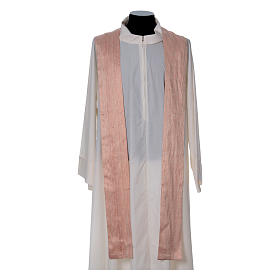 Pink Chasuble in pure Shantung silk s5