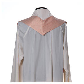 Pink Chasuble in pure Shantung silk s6