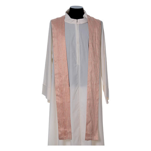 Pink Chasuble in pure Shantung silk 5