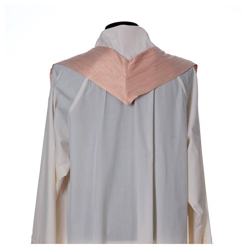 Pink Chasuble in pure Shantung silk 6