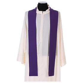 Chasuble in polyester with Chi-Rho and wheat symbol s4
