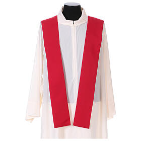 Chasuble in polyester with Chi-Rho and wheat symbol s9