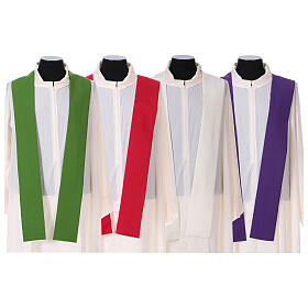 Chasuble in polyester with Chi-Rho and wheat symbol s10