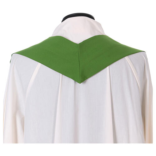 Chasuble in polyester with Chi-Rho and wheat symbol 11