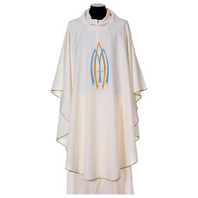 Chasubles: Chasuble liturgique mariale 100% polyester