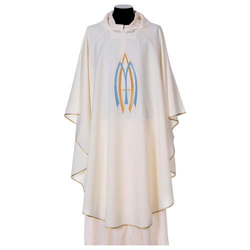 Marian Sacred Chasuble in polyester 1