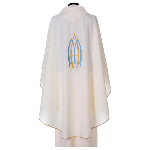 Marian Sacred Chasuble in polyester 3