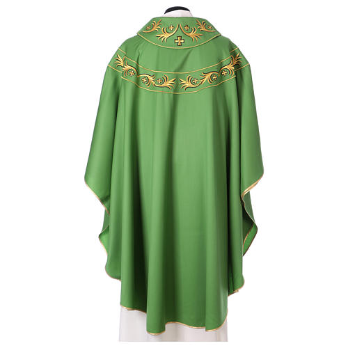 Catholic Priest Chasuble in pure wool with embroidered galloon 3