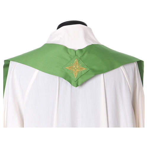 Catholic Priest Chasuble in pure wool with embroidered galloon 5