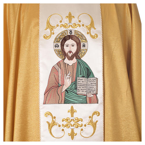 Chasuble in wool and lurex, double twisted yarn and embroidery 3