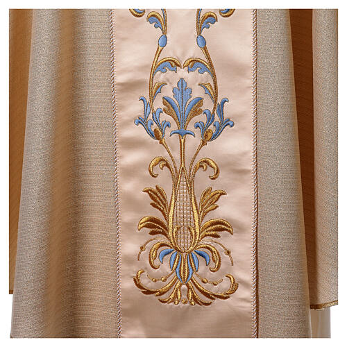 Chasuble Mariale Notre-Dame du Perpétuel Secours laine et lurex 4