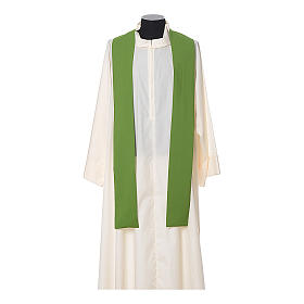 Chasuble in polyester with JHS, cross and wheat embroidery s7