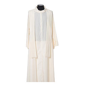 Chasuble in polyester with JHS, cross and wheat embroidery s8
