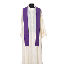 Chasuble in polyester with JHS, cross and wheat embroidery s9